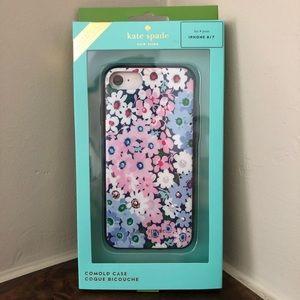 Kate Spade iPhone 7/8 blue & pink floral case